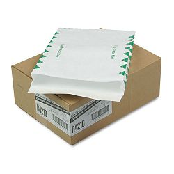 "Tyvek Expansion Mailer First Class 10"" x 13"" x 1-12"" White 18 Lb. Carton of 100 (QUAR4210)"