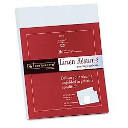 "100% Cotton Resume Envelopes 9"" x 12"" Pack of 25 Blue (SOURF9QLN)"