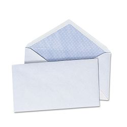 "Security V-Flap Envelope 3-58"" x 6-12"" White Box of 250 (UNV35204)"