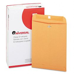 "Kraft Clasp Envelope Side Seam 28 Lb. 9"" x 12"" Light Brown Box of 100 (UNV35264)"