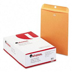 "Kraft Clasp Envelope Side Seam 28 Lb. 10"" x 13"" Light Brown Box of 100 (UNV35267)"