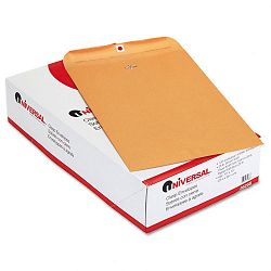 "Kraft Clasp Envelope Side Seam 28 Lb. 10"" x 15 Light Brown Box of 100 (UNV35268)"