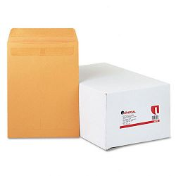 "Self-Stick File-Style Envelope Contemporary 12-12"" x 9-12"" Brown Box of 250 (UNV35291)"