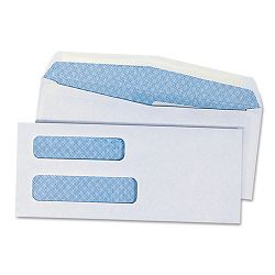 Double Window Business Envelope #8-58 White Box of 500 (UNV36300)