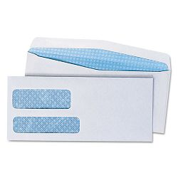 Double Window Business Envelope #9 White Box of 500 (UNV36301)