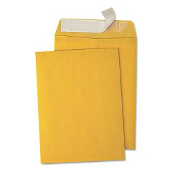 "Pull & Seal Catalog Envelope 9"" x 12"" Light Brown Box of 100 (UNV40102)"