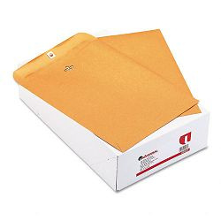 "Kraft Clasp Envelope Side Seam 32 Lb. 9-12"" x 12-12"" Light Brown Box of 100 (UNV42907)"