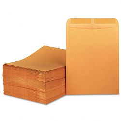 "Catalog Envelope Side Seam 11-12"" x 14-12"" Light Brown Box of 250 (UNV45165)"