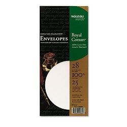 Executive Collection Royal Cotton Envelope Traditional #10 White Pack of 25 (WAU29664)