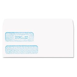 "Dubl-Vue Poly-Klear Double Window Envelope 3 78"" x 8 78"" White Box of 500 (WEVCO168)"