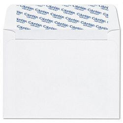 "Invitation Envelopes with Grip-Seal 4-38"" x 5-34"" White Box of 100 (WEVCO598)"