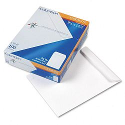 "All-Purpose Catalog Envelope Center Seam 9-12"" x 12-12"" White Box of 100 (WEVCO648)"