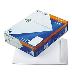 "All-Purpose Catalog Envelope Center Seam 9"" x 12"" White Box of 100 (WEVCO662)"