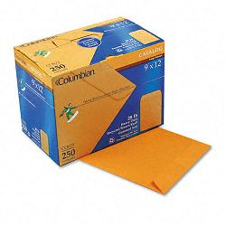 "All-Purpose Catalog Envelope Center Seam 9"" x 12"" Light Brown Box of 250 (WEVCO673)"