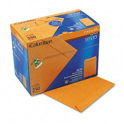 "All-Purpose Catalog Envelope Center Seam 10"" x 13"" Light Brown Box of 250 (WEVCO688)"