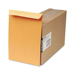 "Self-Seal Catalog Envelopes 10"" x 15 28 Lb. Light Brown Box of 250 (WEVCO749)"