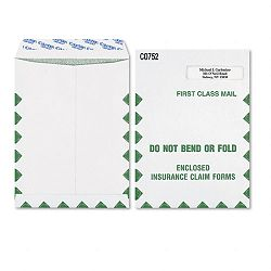 "Grip-Seal Medical Claim Form Window Envelope1st Class9"" x 12""-12"" Box of 100 (WEVCO752)"