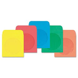 CDDVD Envelope 5 x 5 24 Lb. Assorted Box of 50 (WEVCO849)