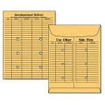 "Re-Use-A-Seal Interoffice Envelopes Recycled 10"" x 13"" Brown Kraft Box of 50 (WEVCO881)"