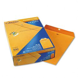 "Clasp Envelope Side Seam 12"" x 15-12"" Brown Kraft Box of 100 (WEVCO910)"
