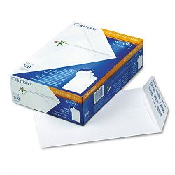 "Grip-Seal Catalog Envelopes 6-12"" x 9-12"" 28 Lb. White Wove Box of 100 (WEVCO921)"