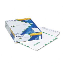 "Grip-Seal Catalog Envelopes 1st Class 9"" x 12"" 28 Lb. White Wove Box of 100 (WEVCO923)"