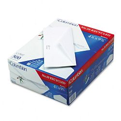 Gummed Seal Business Envelope Executive Style #10 White Recycled Box of 500 (WEVCOR02)