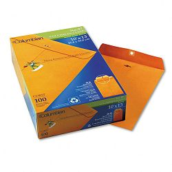 "Clasp Envelope Side Seam Recycled 10"" x 13"" Brown Kraft Box of 100 (WEVCOR97)"