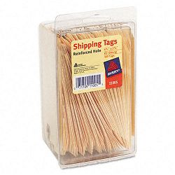 "Shipping Tags 2-38"" x 4-14"" Manila Pack of 100 (AVE11005)"