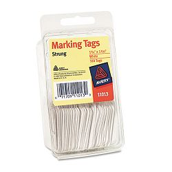 "Marking Tags Paper 1-34"" x 1-332"" White Pack of 100 (AVE11013)"