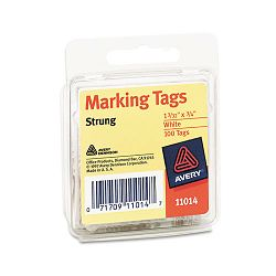"Marking Tags 1-332"" x 34"" White Pack of 100 (AVE11014)"