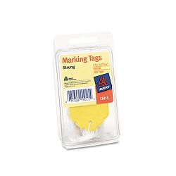 "Marking Tags Paper 2-34"" x 1-1116"" Yellow Pack of 100 (AVE11015)"