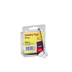 "Jewelry Tags Paper 1316"" x 38"" White Pack of 100 (AVE11038)"