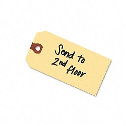 "Shipping Tags 6-14"" x 3-18"" Manila Pack of 1000 (AVE12308)"