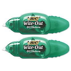 "Wite-Out Ecolutions Mini Correction Tape White 15"" x 235"" Pack of 2 (BICWOETP21)"