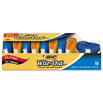 "Wite-Out EZ Correct Correction Tape Non-Refillable 16"" x 472"" Pack of 10 (BICWOTAP10)"