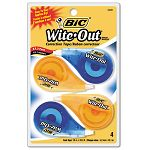 "Wite-Out EZ Correct Correction Tape Non-Refillable 16"" x 400"" Pack of 4 (BICWOTAPP418)"
