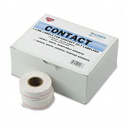 "One-Line Pricemarker Labels 716"" x 1316"" White 1200Roll 16 RollsBox (COS090948)"