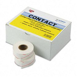 "Two-Line Pricemarker Labels 58"" x 1316"" White 1000Roll 16 RollsBox (COS090954)"