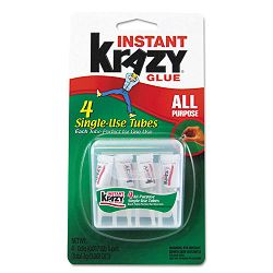 Krazy Glue Single-Use Tubes with Storage Case Pack of 4 (EPIKG58248SN)