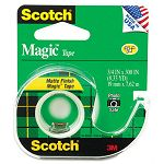 "Magic Office Tape with Refillable Dispenser 34"" x 300"" Clear (MMM105)"