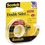 "665 Double-Sided Office Tape with Hand Dispenser 12"" x 250"" (MMM136)"