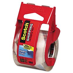 "3850 Heavy Duty Packaging Tape in Sure Start Dispenser 2"" x 22 yds Clear (MMM142)"