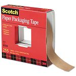 "Kraft Packaging Tape 1-12"" x 60 yards 3"" Core Natural (MMM255112)"