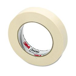 "Economy Masking Tape 1"" x 60 yards 3"" Core Cream (MMM260024A)"