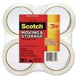 "Moving & Storage Tape 1.88"" x 54.6 yards 3"" Core Clear 4 RollsPack (MMM36504)"