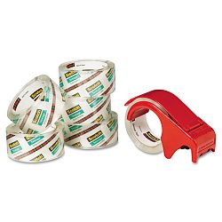"Moving & Storage Tape 1.88"" x 54.6 yards 3"" Core Clear 6 RollsPack (MMM36506DP3)"