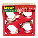 "Moving & Storage Tape 1.88"" x 38.2 yards 3"" Core Clear 4 RollsPack (MMM3650S4RD)"