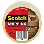 "Commercial Grade Packaging Tape 1.88"" x 54.6 yards 3"" Core Clear (MMM3750)"