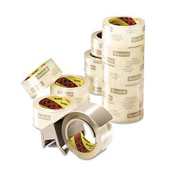 "Commercial Performance Packaging Tape 1.88"" x 54.6 yards Clear 12 Pack (MMM375012DP3)"